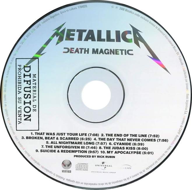 1784020 Metallica Death Magnetic Cd Jewel 2008