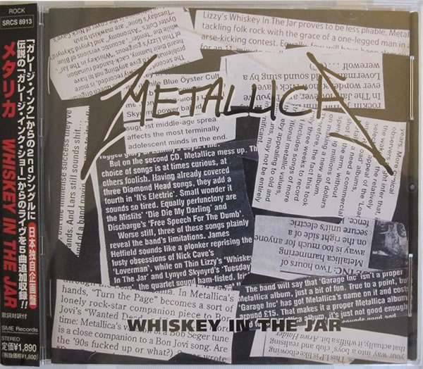 Metallica - Whiskey in The Jar - Japan -  - SRCS 8913